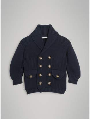 Burberry Childrens Cotton Knit Pea Coat Cardigan