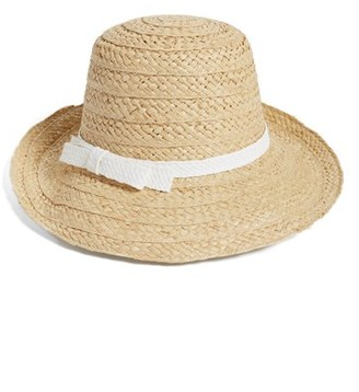 Women's Kate Spade New York Asymmetrical Sun Hat - White $98 thestylecure.com