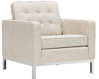 Modway Loft Upholstered Fabric Armchair, Multiple Colors
