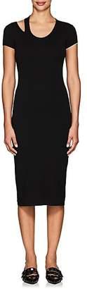 Helmut Lang Women's Cutout-Detailed Jersey Midi-Dress - Black
