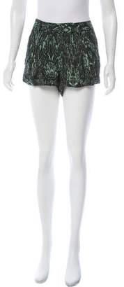 Haute Hippie Floral Mini Shorts