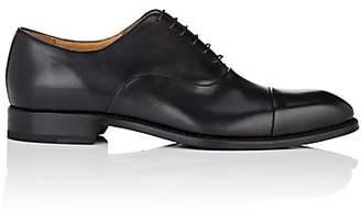 Barneys New York Men's Cap-Toe Leather Balmorals - Black