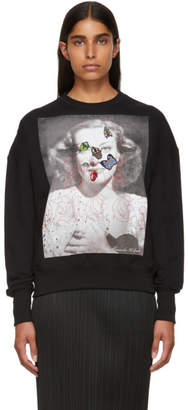 Alexander McQueen Black Portrait Bug Embroidered Sweatshirt