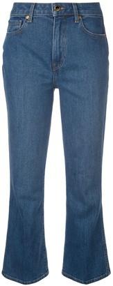 KHAITE cropped denim jeans