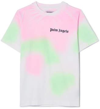 Palm Angels 扎染纯棉平纹针织 T 恤