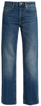 Raey - Press Straight Leg Jeans - Womens - Dark Blue