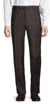 Zanella Plaid Wool Pants