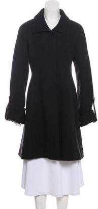 Theory Button-Up Wool Coat