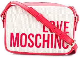 Love Moschino logo embroidered crossbody