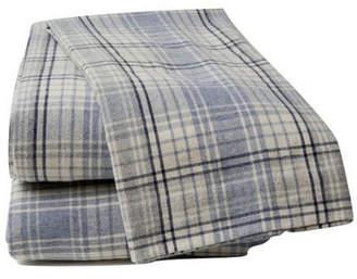 La Rochelle Cream Plaid Sheet Set Queen Bedding