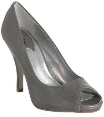Charles by Charles David grey patent leather 'Agatha' peep toe pumps
