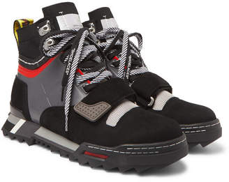 Off-White Off White Rubber-Trimmed Suede And Mesh Hiking Sneakers