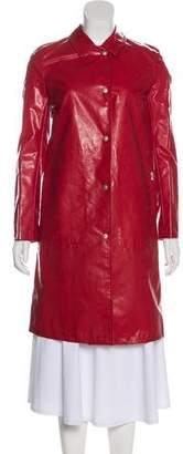 Burberry Nova Check-Lined Rain Coat