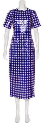 Diane von Furstenberg Short Sleeve Maxi Dress