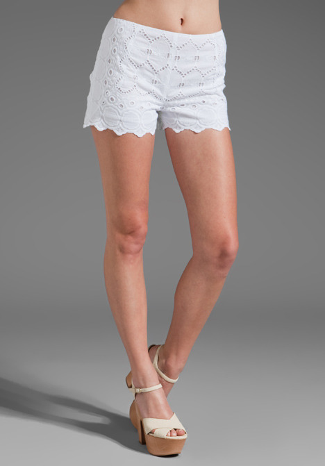 Anna Sui Eyelet Lace Shorts