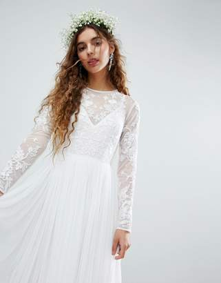 Asos Edition EDITION Embroidered Bodice Wedding Maxi Dress