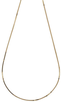 Tag Heuer FINE JEWELLERY 14K Yellow Gold Four Sided Box Chain Necklace