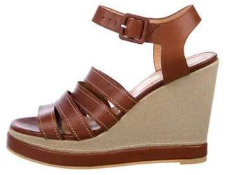 Robert Clergerie Leather Platform Wedges