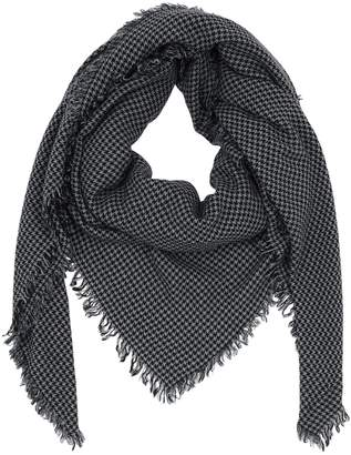 Faliero Sarti HOUNDSTOOTH CASHMERE & WOOL SCARF
