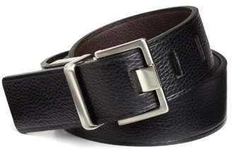 Calvin Klein Men's mm Reversible Flat Strap Belt with Heat Crease