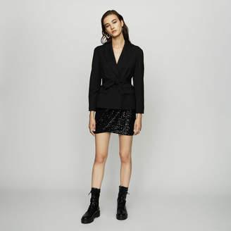 Maje Cropped jacket in virgin wool