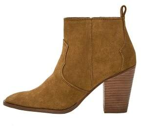 MANGO Heel leather ankle boot