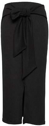 Banana Republic Ribbed Luxespun Tie-Waist Midi Skirt