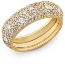 Lana 14k Yellow Gold Diamond Curve Ring, Size 7