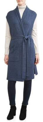 Time and Tru Women's Belted Sweater Vest