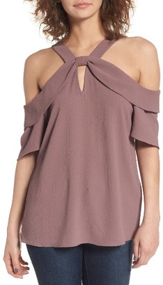 Women's Leith Ruffle Off The Shoulder Top $49 thestylecure.com