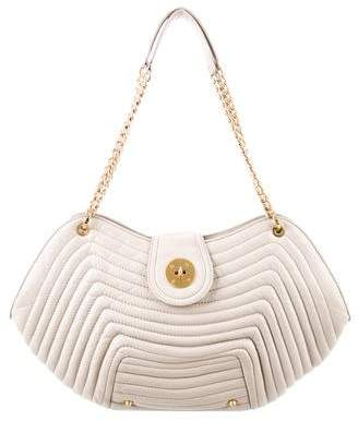 Eric Javits Ribbed Leather Tote