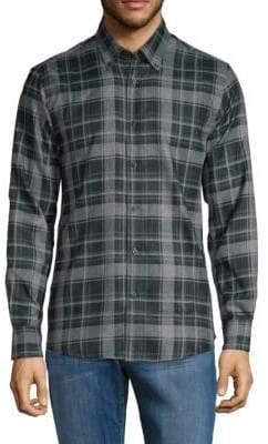 Saks Fifth Avenue Plaid Button-Down Shirt