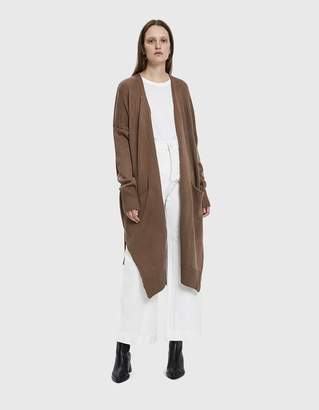 Ash Farrow Mariana Long Knit Cardigan in Brown