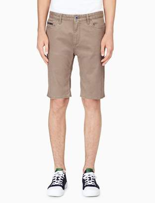 Calvin Klein slim straight cavalry twill 5-pocket shorts