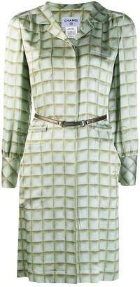 Chanel Pre-Owned checked shirt dress