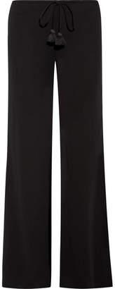 Figue Simone Crepe Wide-leg Pants - Black