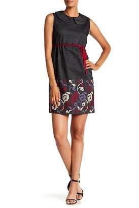 Anna Sui Embroidered Sleeveless Denim Dress