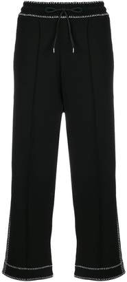 McQ contrast cropped track pants