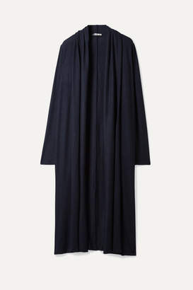 The Row Renate Stretch-cashmere Cardigan - Navy