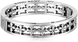 "King Baby Studio Heartbreaker"" MB Cross Hinged Bangle Bracelet"