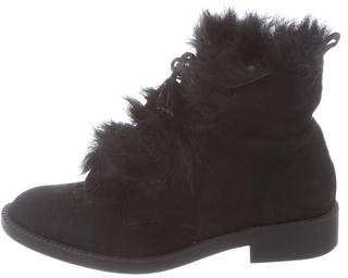 Pedro Garcia Suede Fur-Trimmed Boots