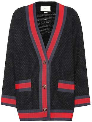 Gucci Cotton-blend twill cardigan