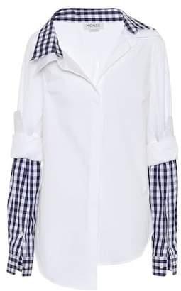 Monse Layered stretch-cotton shirt