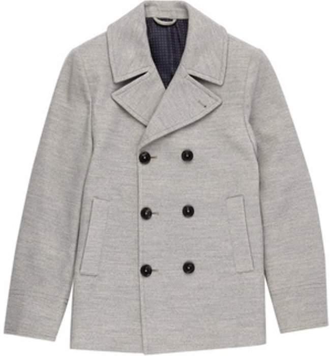Womens **Burton Grey Faux Wool Pea Coat
