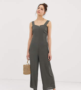 04503e9dfec Glamorous Tall minimal jumpsuit with button back straps