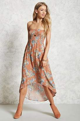 Forever 21 Strapless Floral Print Dress