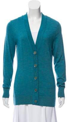 Tory Burch Merino Wool Button Front Cardigan