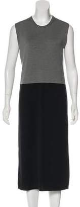 Haider Ackermann Wool & Silk-Blend Midi Dress