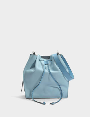 J.W.Anderson Drawstring Bag in Dusty Blue Mottled Leather