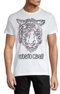 Roberto Cavalli Graphic Jersey Cotton Tee